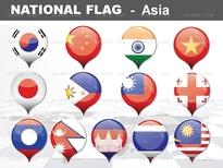 1종_아시아 national flag ICON_맑은피티