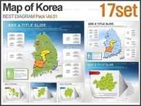 대한민국 지도 패키지_Vol.01(17set)_조이피티