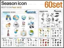 PNG 계절 <B>아이콘</B> 패키지_Vol.02(60set)_조이피티